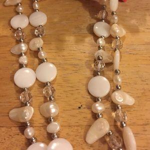 Vintage pearl mop crystal