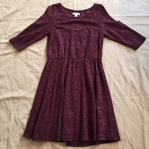 Cotton On Purple Fit & Flare Sweetheart Dress