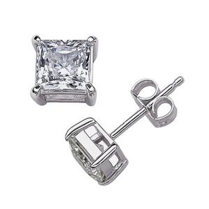 Jewelry - Sterling Silver Crystal CZ Stud earring A+ Quality