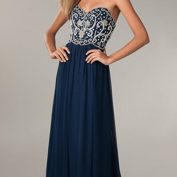Nordstrom Dresses | Navy Prom Dress | Poshmark