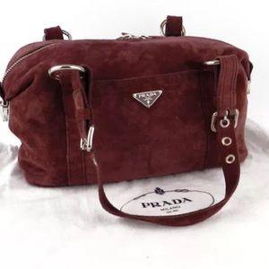 ... where to buy prada bags prada brown suede hobo bag ce17d 47439 9990ffa8b1c3b