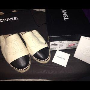 Chanel lamb skin espadrilles