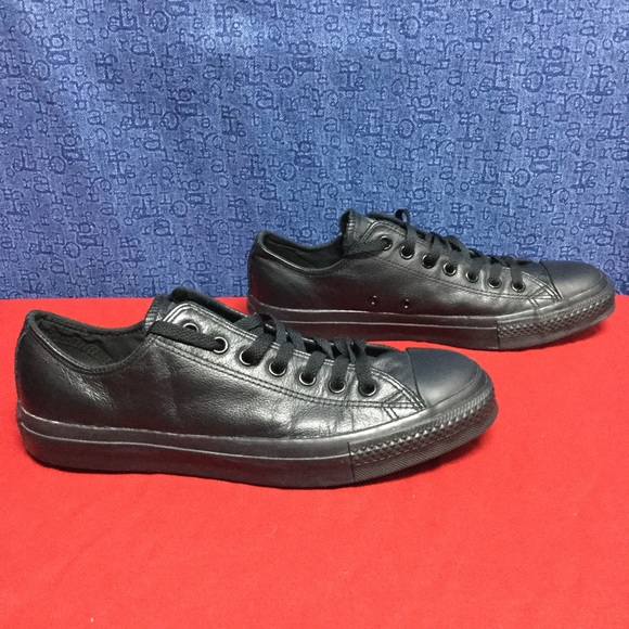 eb773ac0ea84 Converse Shoes - rare CONVERSE ALL STAR black leather OX . w11 m9