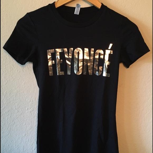 5830762f Emdem Apparel Tops | Feyonce Like Beyonc T Shirt With Silver Writing ...