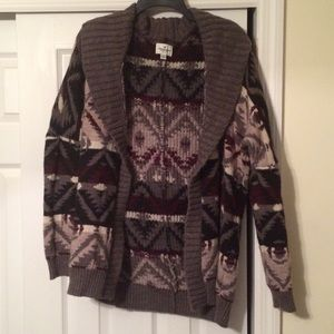 American Eagle Tribal Print Sweater