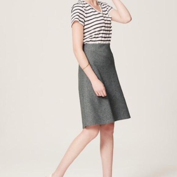 55e3b19956 LOFT Skirts | Nwt Gray Cotton Flannel Midi Skirt Xxs | Poshmark