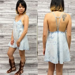 LOLA open back denim mini dress/top