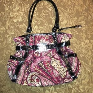 Gia Milani Handbags - Purple Floral Gia Milano Crossbody Purse Handbag