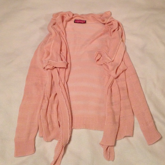Say What - Say What pink cardigan from Aleha's closet on Poshmark