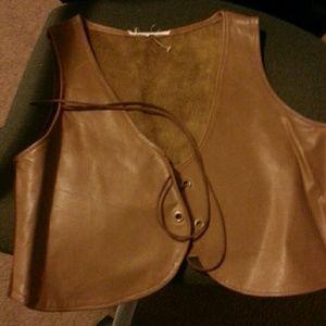 Leather 2 tones Vest