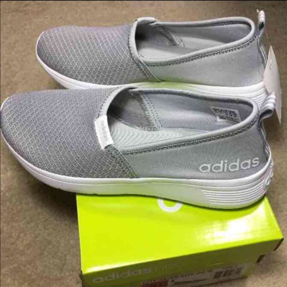 adidas neo cloudfoam footbed slip on