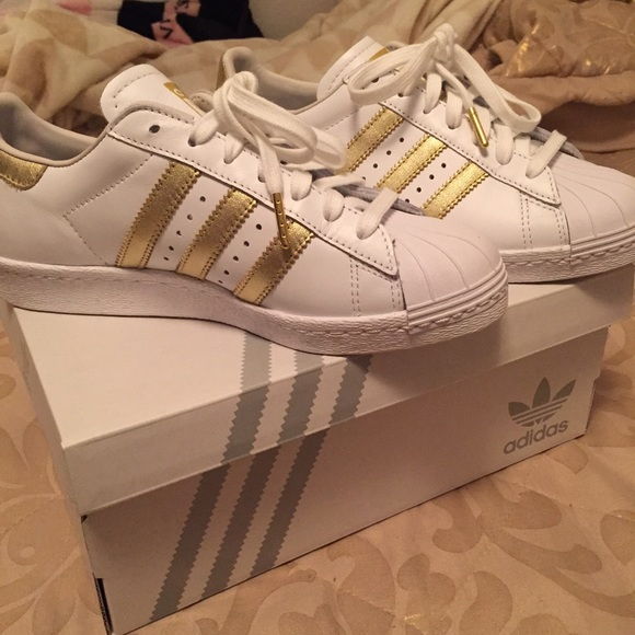 30ed003d4869 custom gold adidas superstars