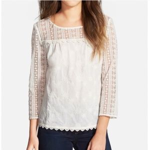 Hinge Lace Embroidered Top