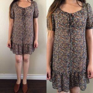 Vintage Sheer Floral Dress