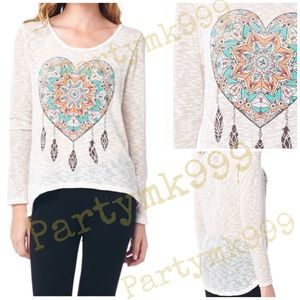 Iconic Legend Tops - Heart Dreamcatcher free spirit boho top💗NEW🌹