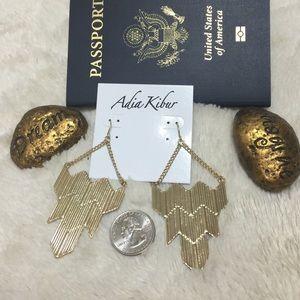 Adia Kibur Jewelry - Gold tone  chandelier earrings