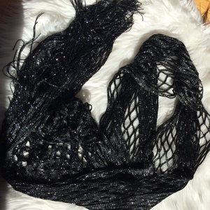 Accessories - Fabulous black and silver wrap / scarf