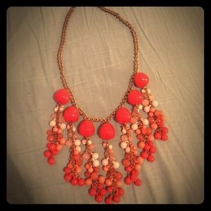 Coral Statement Necklace