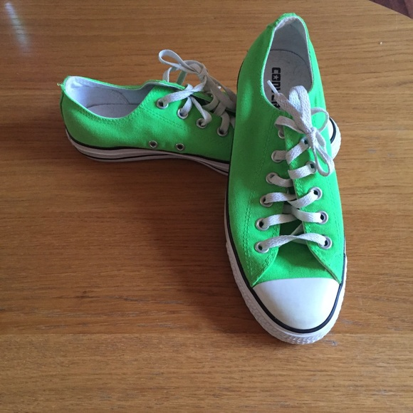 67b05895f806 Converse Shoes - Converse All Star low tops lime green size 9