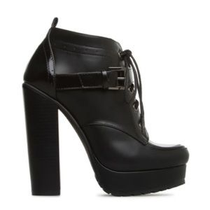 Black heeled bootie. Brand New in Box