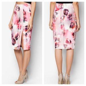 Bardot Dresses & Skirts - 🆕 bardot | floral side slit midi skirt