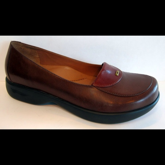 Dansko Shoes Desiree Brown Leather Loafer Size 40 Poshmark
