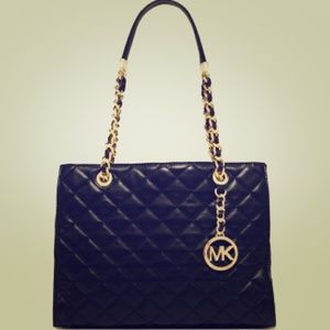 NEW Authentic Michael Kors Quilted Leather Tote