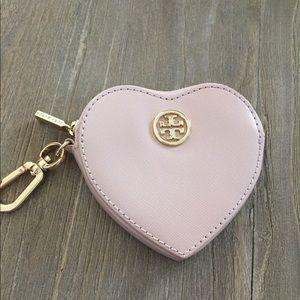 Tory Burch Heart Coin Case Keychain