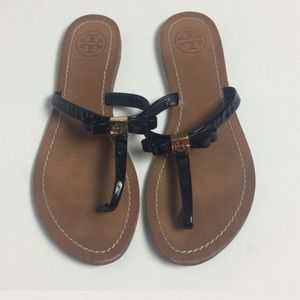 """Tory Burch Shoes - Tory Burch """"Leighanne"""" Leather Thong Sandal"""