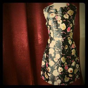 NWT Gracia flowered flared dress