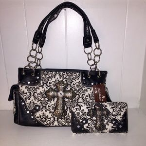 Rustic Couture handbag with wallet