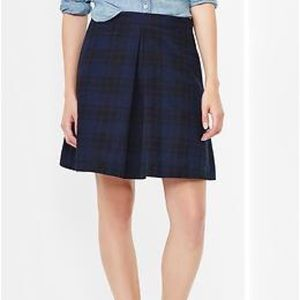 GAP Plaid Single Pleat Skirt