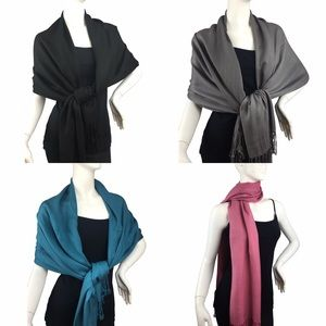 Lil+Lo Accessories - Lil+Lo Black Pashmina Wrap Style Scarf NWT