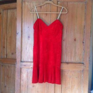 Vintage red Leather dress