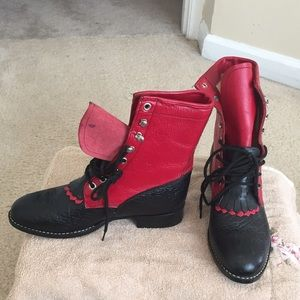 Shoes - Red and black boots