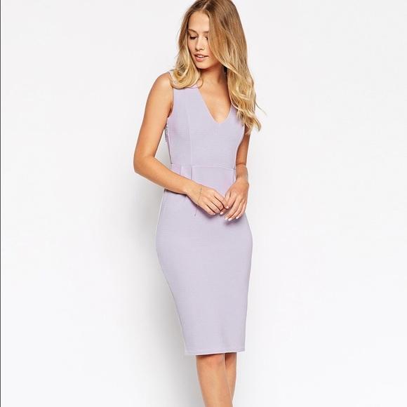 ASOS Lilac Lavender Laceback Sheath Dress NWOT