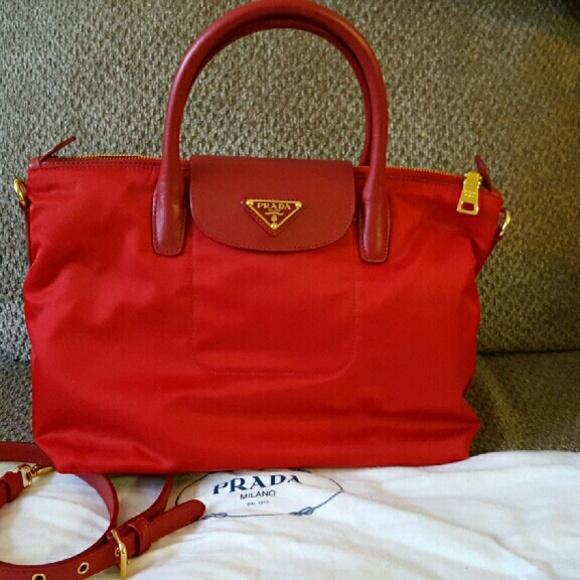 Prada Bags   Bn2106 Tessuto Saffian Nylon And Leather Bag   Poshmark 50604a307e