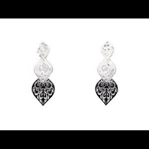 Designer style teardrop earrings.