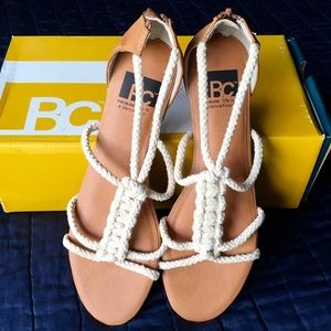 BC Footwear Rope Sandals new in box! 