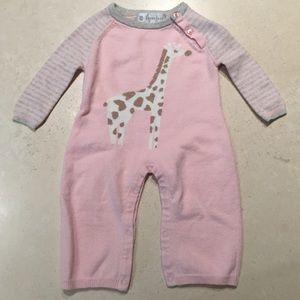 Lucky Jade Other - Lucky Jade Pink Cotton & Cashmere Giraffe Coverall