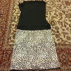 Dresses & Skirts - Tank and animal.print mini  skirt