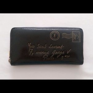 YSL Patent Leather Y-mail wallet