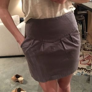 Spring Sale - Grey High Waisted Skirt w/ Pockets