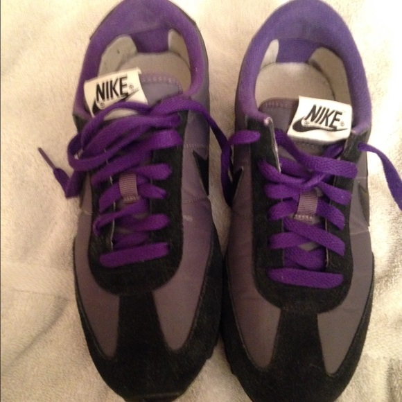 big sale c6d03 4cc9d Purple grey and black nike Cortez sneakers SALE! M 56d11eaa13302a05aa026142