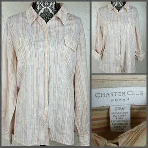Charter Club Tops - 🎉SALE🎉 Charter Club Striped Longsleeve