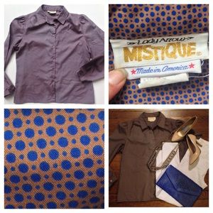 MISTIQUE Vintage Retro Dot Top
