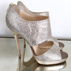 Champagne Private glitter Jimmy Choo heels 39.5