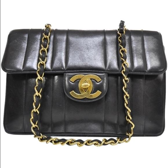 e62bc9dfb42161 CHANEL Bags | Vintage Jumbo Vertical Lambskin Gold Chain | Poshmark