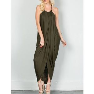 "1DAYSALE ""At Last"" Draped Front Maxi Dress"