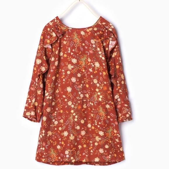 35d82b3a Zara Dresses | Sale Kids Floral Print Dress | Poshmark